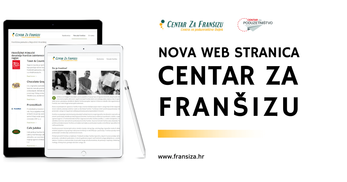 Nova web stranica Centra za franšizu Centra za poduzetništvo